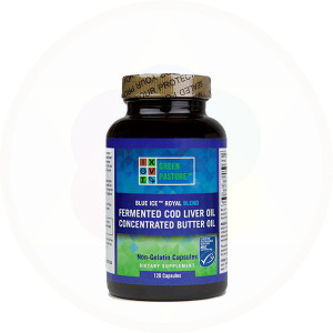 Royal Butter Oil and Fermented Cod Liver Blend Capsules by Green Pasture