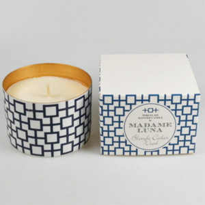 Blue Decal Cedarwood Candle