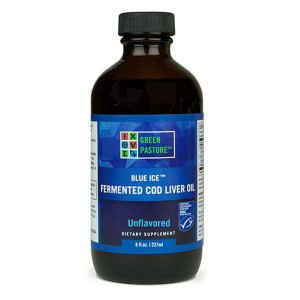 Fermented Cod Liver Oil Liquid Arctic Mint by Green Pasture
